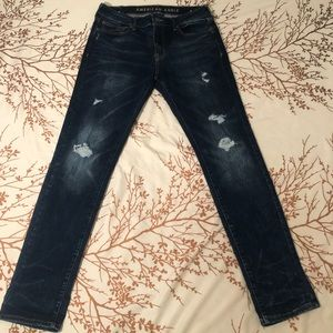 American eagle skinny dark wash jeans